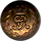brass button with King's crown over GvR, all within a wreath