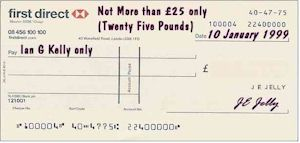 Limited Value Cheque